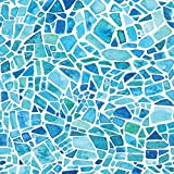 Home Decor Line CR-68415 Blue Mosaic Premium Window Film
