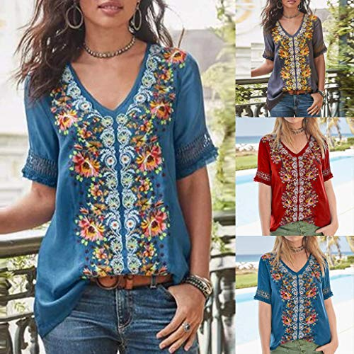 Alangbudu Women Contrast Color Printed Long Sleeve Pullover Casual Sweatshirt Loose Fit Tops Baggy Blouse Soft Tunic