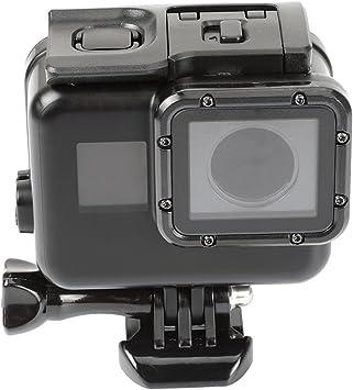 Negro Pantalla táctil impermeable caso de vivienda puerta de atrás para GoPro Hero 5 Héroe 6 bajo el agua caja para Go Pro Hero5 Hero6 accesorios de la cámara: Amazon.es: Electrónica