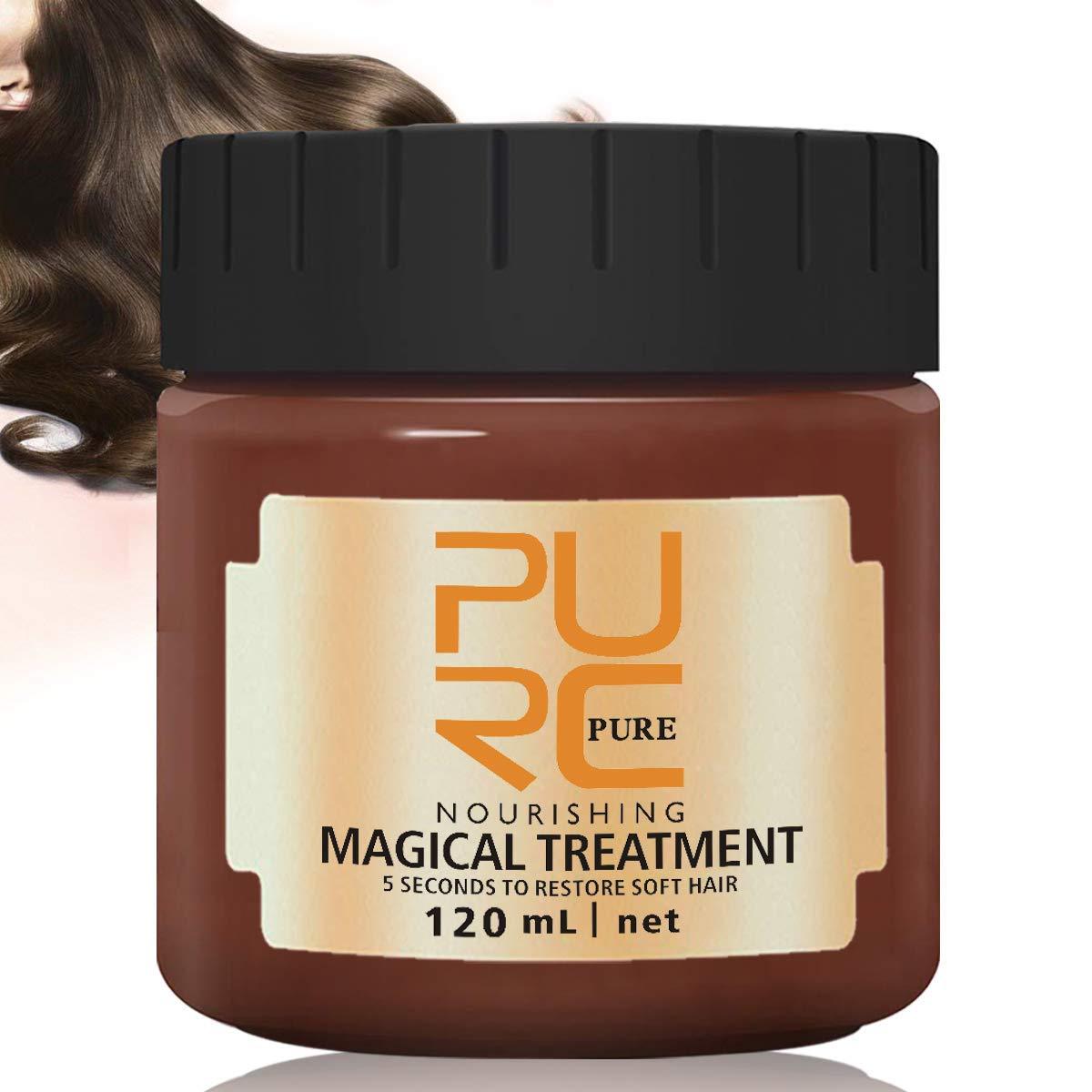 PURC Hair Treatment Mask 120ml, 2019 Magical Hair Mask 5 Seconds Repairs Damage Hair Root Hair Tonic Keratin Hair & Scalp Treatment by Cristalbox