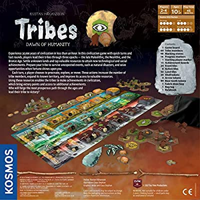 Tribes: Dawn of Humanity - A Kosmos Game from Thames & Kosmos | A Civilization Game for 2-4 Players, Civ Building, Designer Rustan Håkansson, Ages 10+: Toys & Games