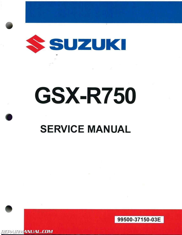 99500-37150-03E 2011-2015 Suzuki GSX-R750 Motorcycle Repair Manual:  Manufacturer: Amazon.com: Books