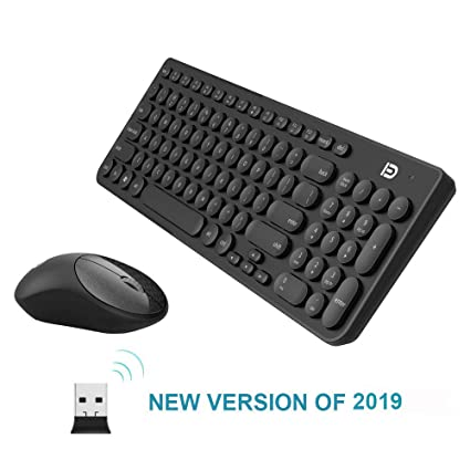 61d16f5eeac Wireless Keyboard and Mouse Combo,bvsdreuy IK6620 2.4GHz New Cordless Cute  Round Key Set