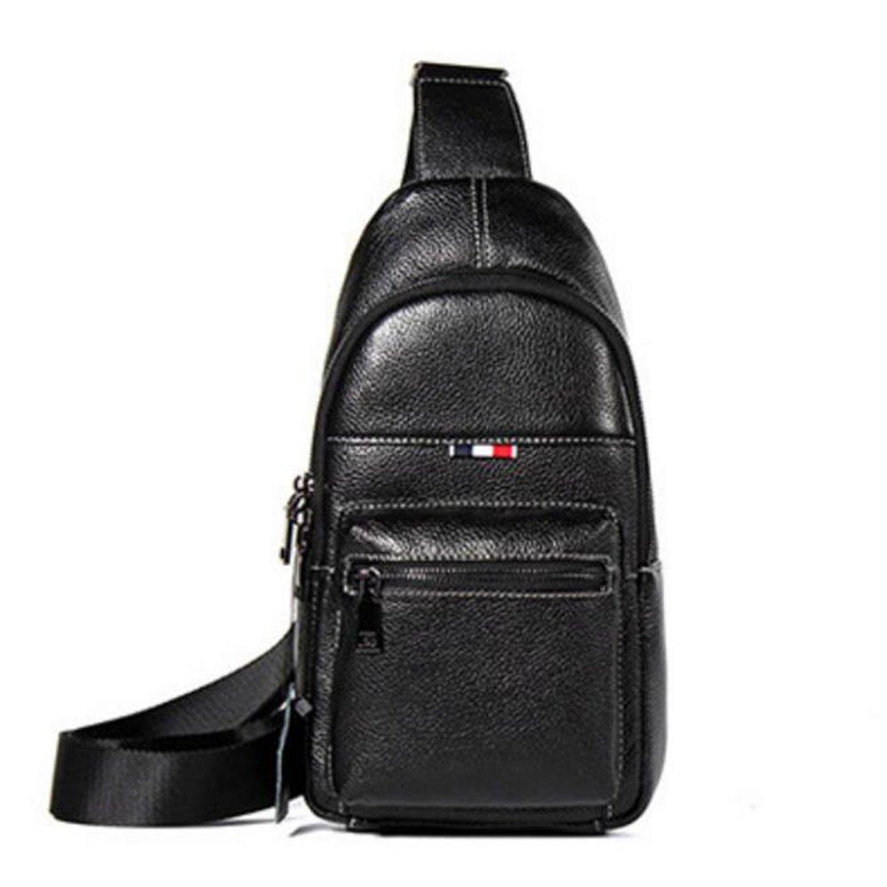JIANFCR Herren Brusttasche, Herren Geschäft Leder Schulter Messenger Bag Sport Casual Brusttasche Big Easy Multifunktionale Brusttasche