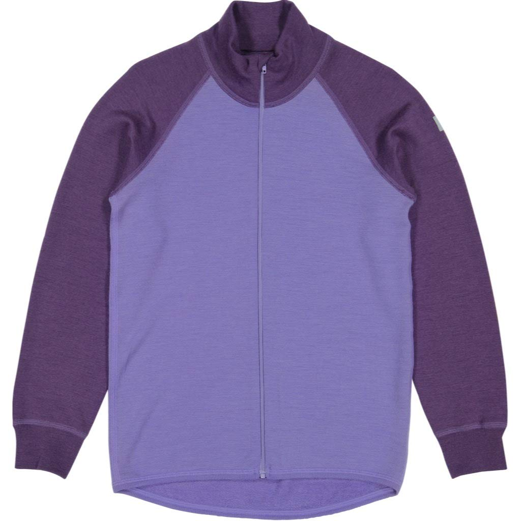 Polarn O. Pyret Merino Wool Terry Zip UP (6-12YRS) - Aster Purple/6-8 Years by Polarn O. Pyret