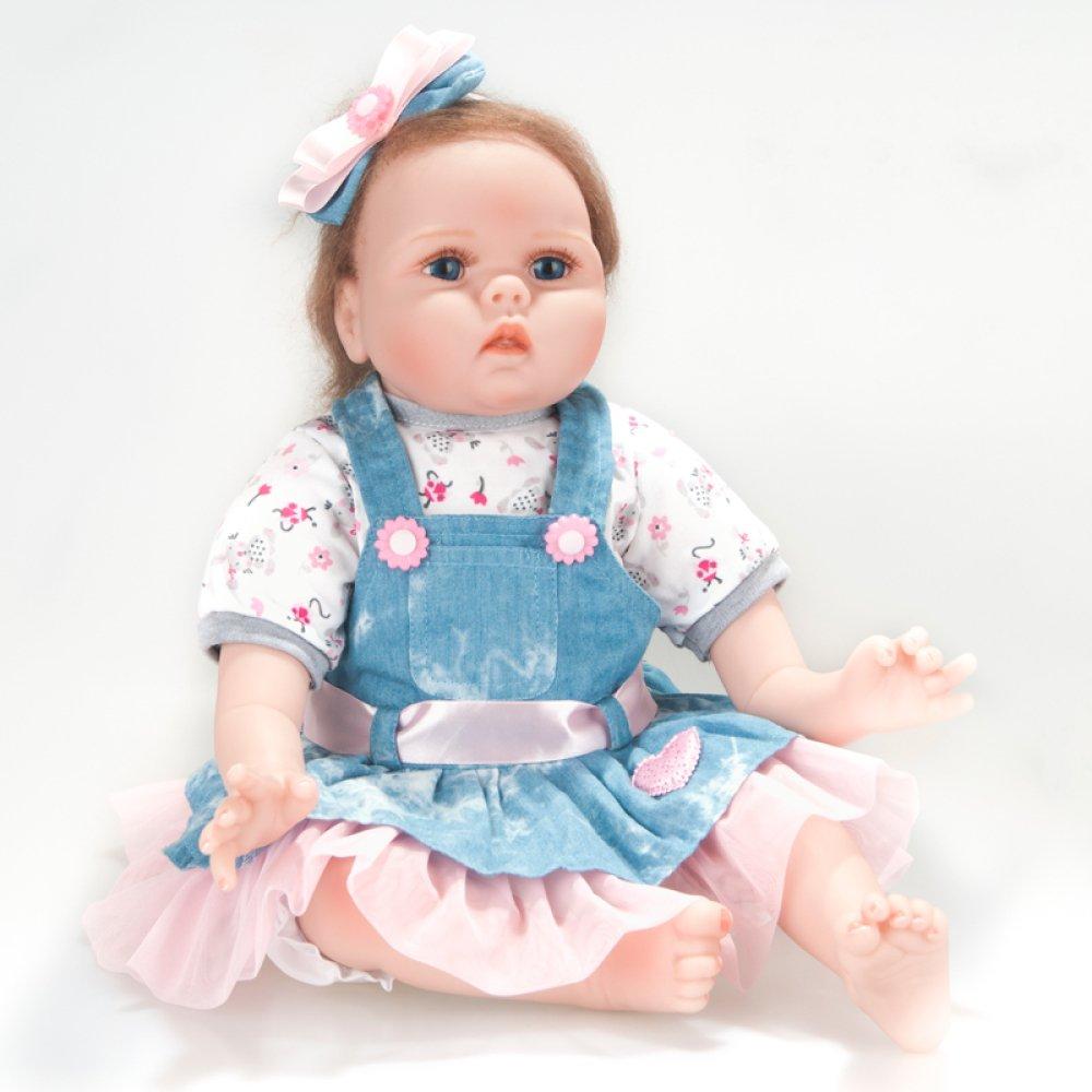 ホットセール QXMEI シリコンビニール おもちゃ 22インチ リバースシミュレーション ベビードール おもちゃ B07GN58G2V 女の子 ソフトシリコン 早期子供のおもちゃ QXMEI 誕生日ギフト 55cm B07GN58G2V, 知名町:67d46b2f --- pmod.ru