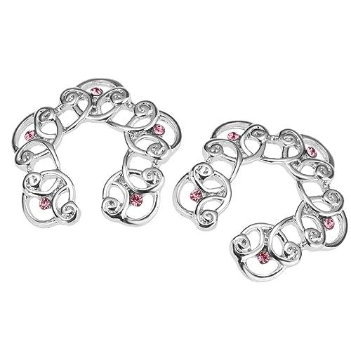 1 Paar Edelstahl Kreis Herz-Blumen Nippelringe Brustpiercing Klemmring