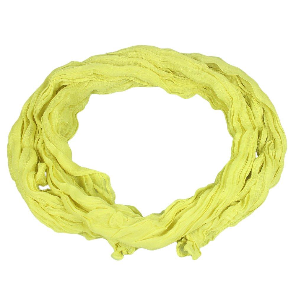 Freedi Girls Solid Wrinkle Cotton Gauze Scarf Children Winter Scarves