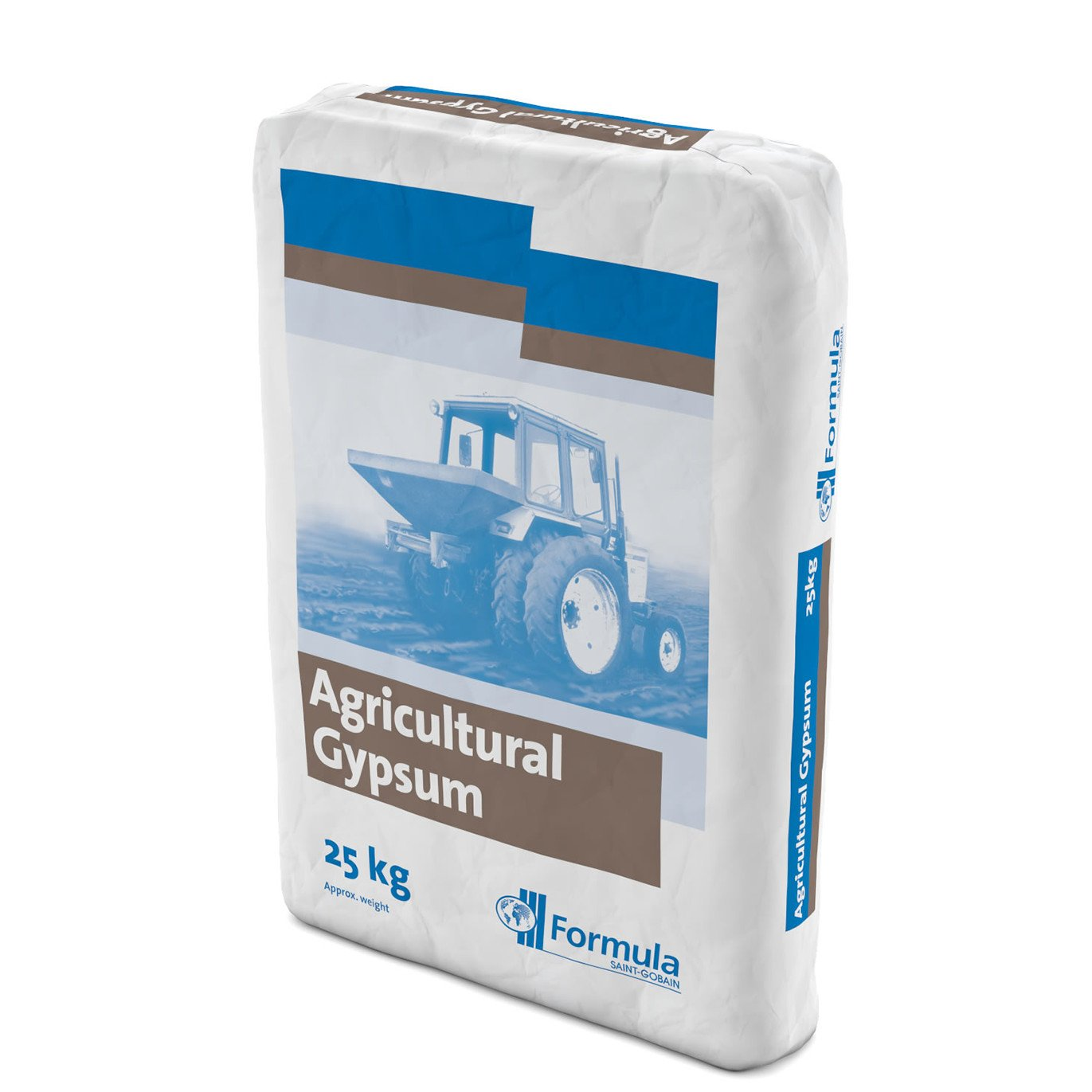 British Gypsum for Agricultural Amendment, Amend Very Compact Clay Soils, 25 kg Bag