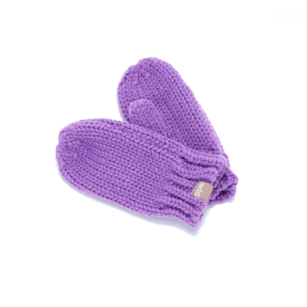 Peppercorn Kids Solid Mittens - Purple - SM (1-3Y)