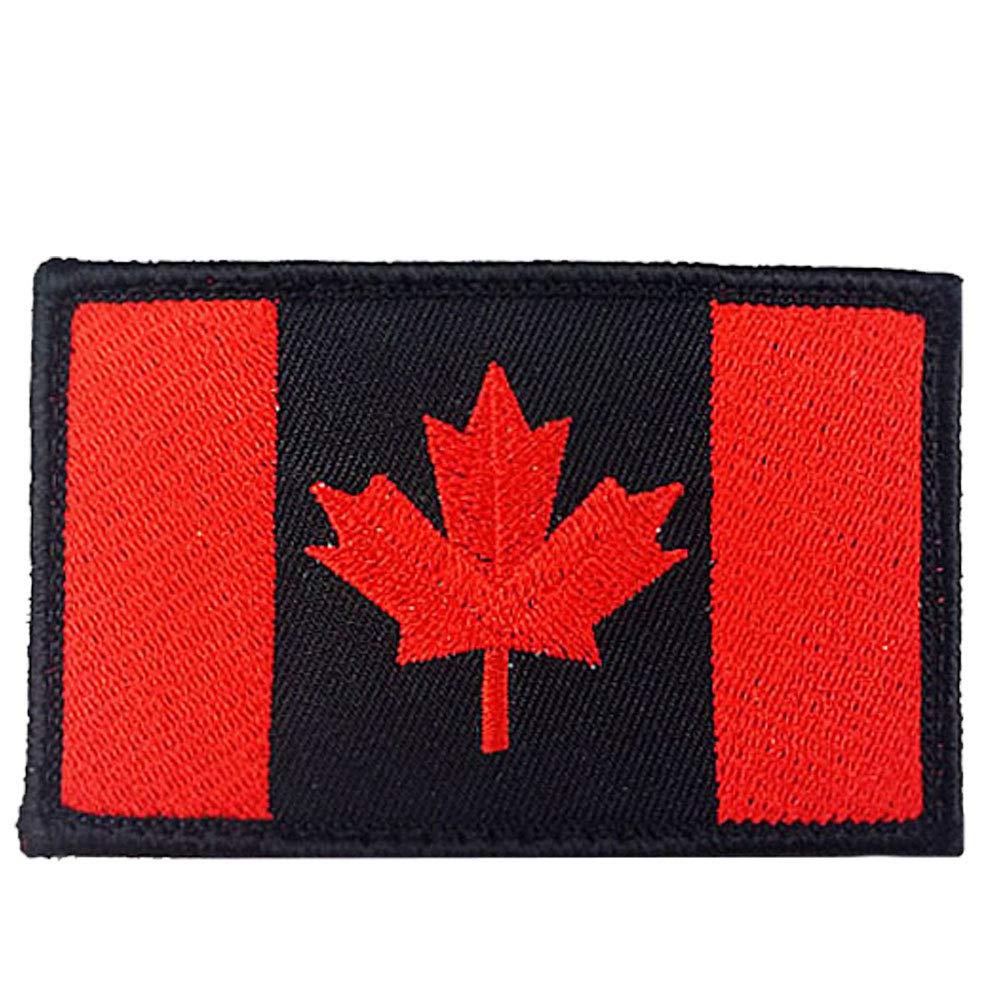 Bordado Canad/á Ej/ército Bandera Personalizada T/áctico Uniforme De Arce Hoja Bandera Insignia del Bordado De Parches