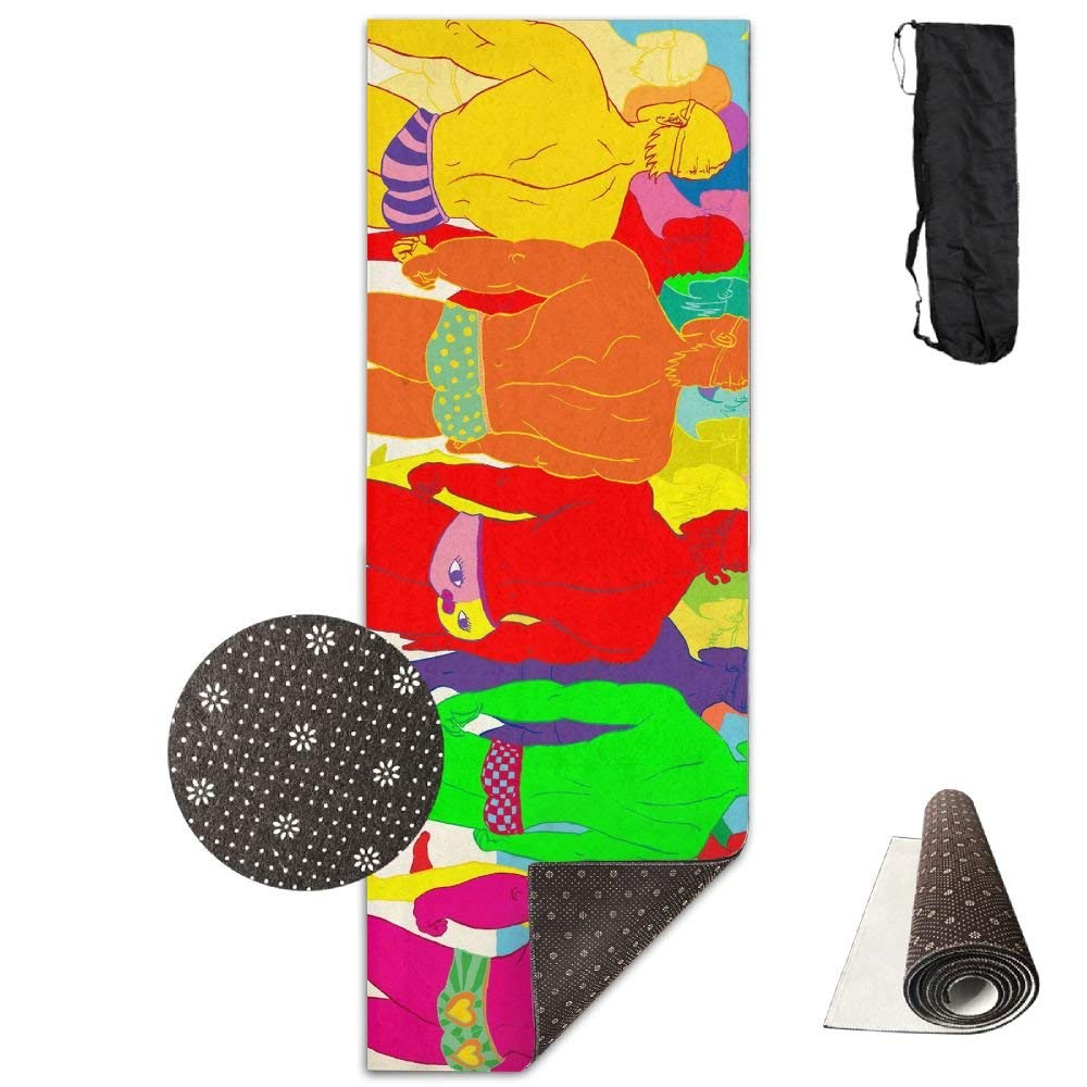 color Humor Body Premium Print Durable Concise Fun Printing Yoga Mat for Yoga, Workout, Fitness