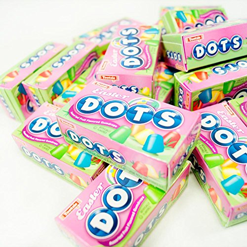 - Tootsie Roll Spring Mini Dots Assorted Fruit Flavored Gumdrops, 25 oz Bag, 32 Mini Boxes