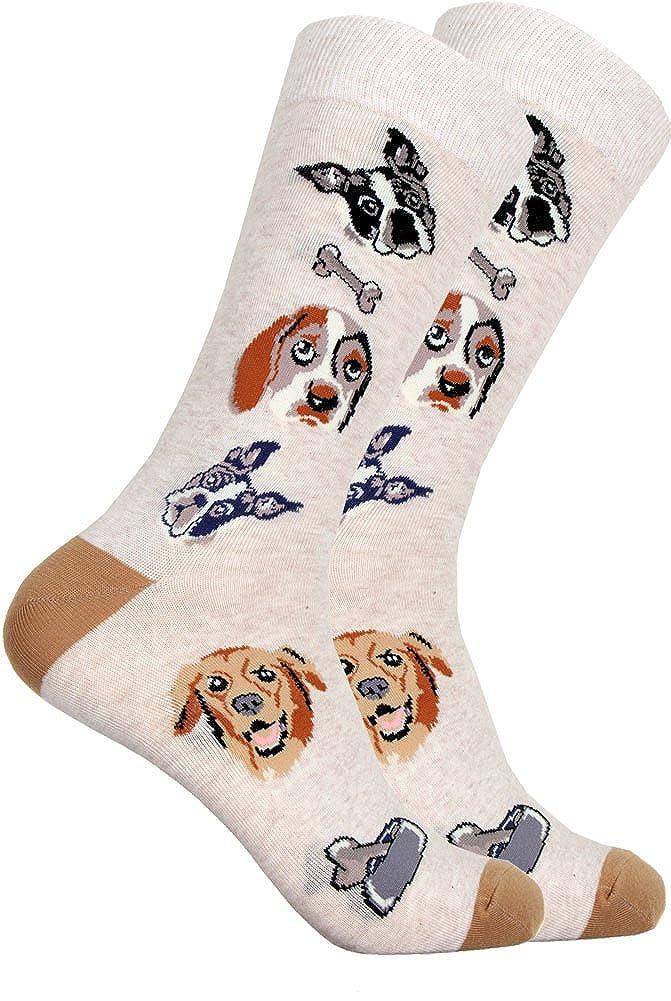 Mens Novelty Dog Lovers Mixed Dog Socks