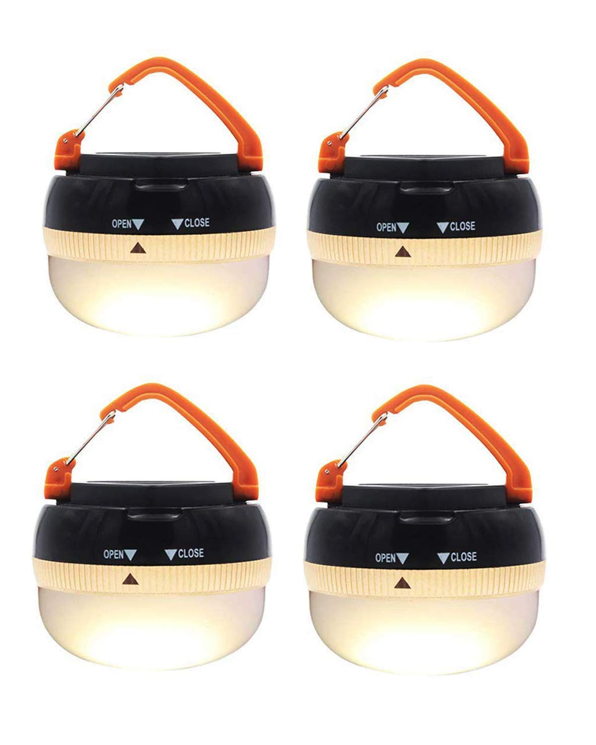 Restractable Hook AuKvi Brightest LED Lantern Portable Camping Lights Outdoor Tent Light Hanging Camping Lamp with 5 Modes 2 Pack