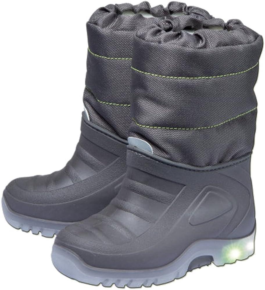 Schnee-Boots für Kleinkinder Reflektor und Blinklichtem Gr 23//24 NEU+OVP