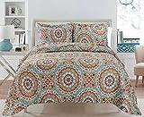 3 Piece Quilt Set Bedspread Set King Reversible