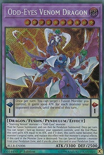 Odd-Eyes Venom Dragon - BLLR-EN006 - Secret Rare - 1st Edition