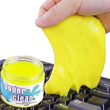 Limpiador de teclado de gel mágico para limpiar el polvo, el pelo, las migas, ...