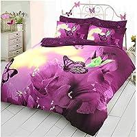 Luxury Fancy 3D Panel Printed Poly Cotton Duvet Set Soft Quilt Cover Bedding Set Single/Super King