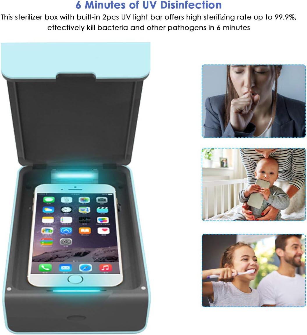 Borlai Sterilizzatore UV Scatola Disinfezione Telefono Portatile Maschera Spazzolino Sterilizzatore con Cavo USB