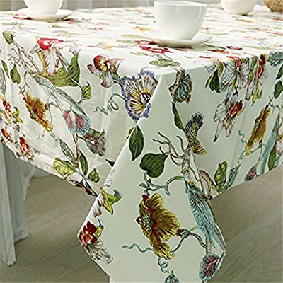 Manteles Impreso Algodón Funda para mesa folk-Custom Vintage boda mantel rectangular cuadrado, algodón, 1, 140 * 140 cm: Amazon.es: Hogar