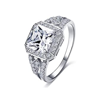Amazon Com Engagement Rings Lehom Clearance Women Floral
