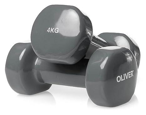 Oliver - Pesas (2 unidades, revestimiento de vinilo) 2 x 4.0 kg ...