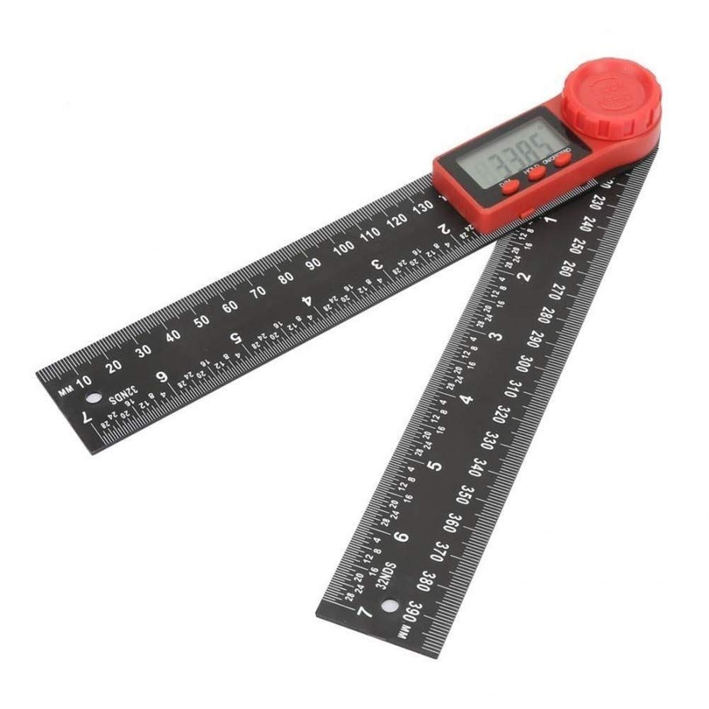 LEZDPP Carbon Fiber Angle Finder Digital Square Angle 360 Degrees 200mm by LEZDPP