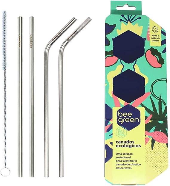 Kit de Canudos Misto de Inox, Beegreen: Amazon.com.br: Saúde e Cuidados Pessoais