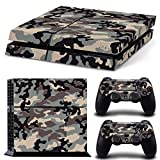 GoldenDeal PS4 Console and DualShock 4 Controller Skin Set – Camo Military Soldier Warrior – PlayStation 4 Vinyl
