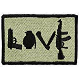 OneTigris Tactical Patch Morale Military Patch (Love - Olive Green)