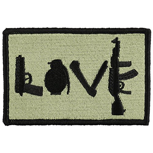 (OneTigris Original Patch Tactical Morale Military Patch (LOVE - Olive Green) )