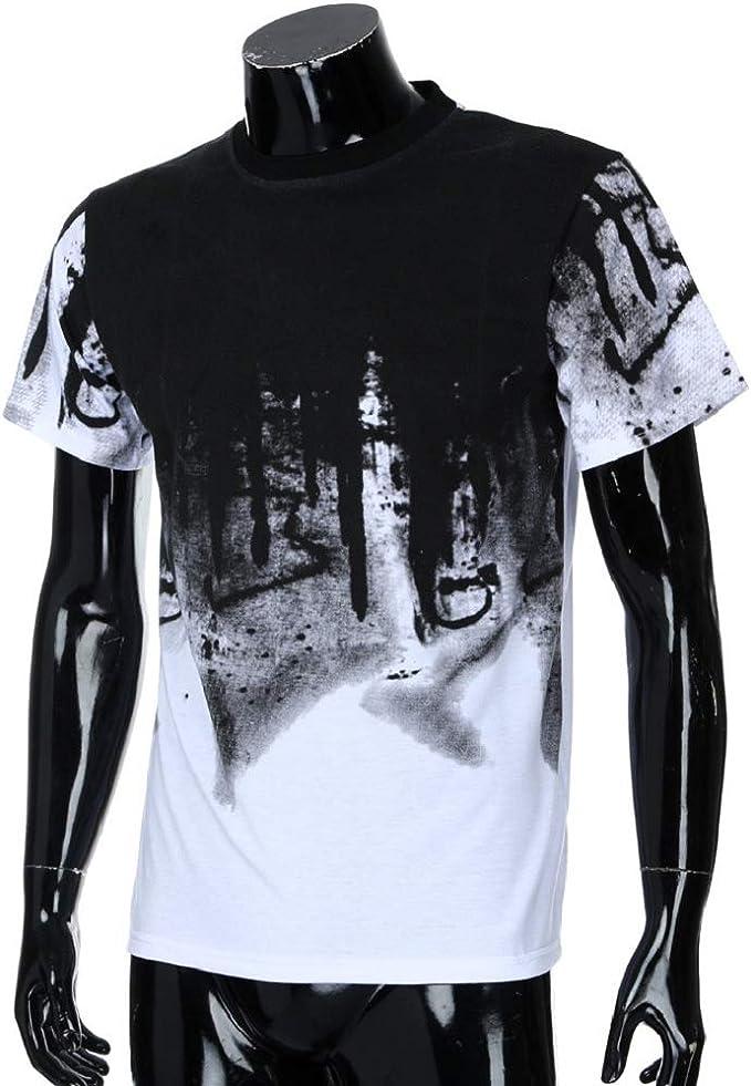 Luckycat Camiseta Básica De Manga Larga Longsleeve para Hombr Camisetas Hombre Manga Corta Moda Personalidad Camuflaje Gradiente Hombres Casual Slim: Amazon.es: Ropa y accesorios