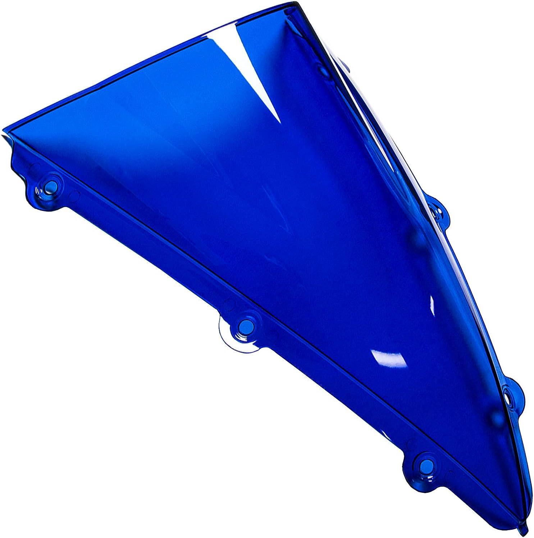 Mpw Wsc-db-blu-yam-0004/double Bubble /écran Teint/é pour Yamaha YZF R1/04 06 Bleu