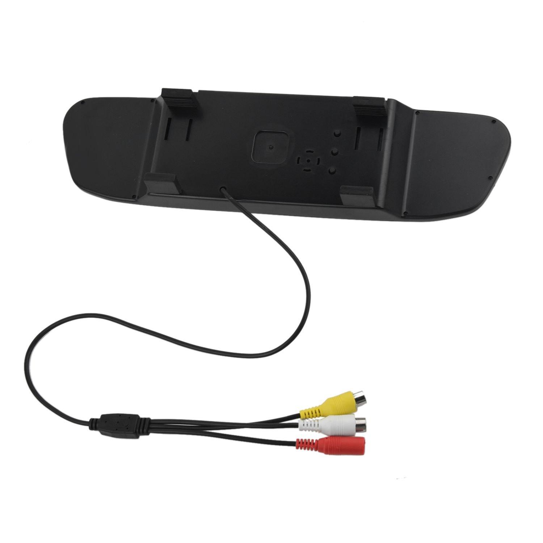 Specchio Soltanto Cikuso LED del parcheggio Che inverte la Macchina Fotografica di retrovisione dellautomobile del CCD con Il Monitor a Specchio dellautomobile di 4.3 Pollici Monitor