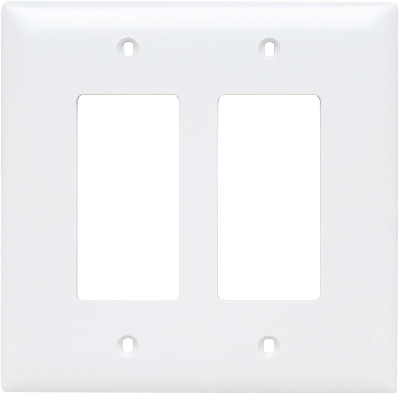 Pass & Seymour TPJ262W Jumbo Wall Plates, 2-Gang, White