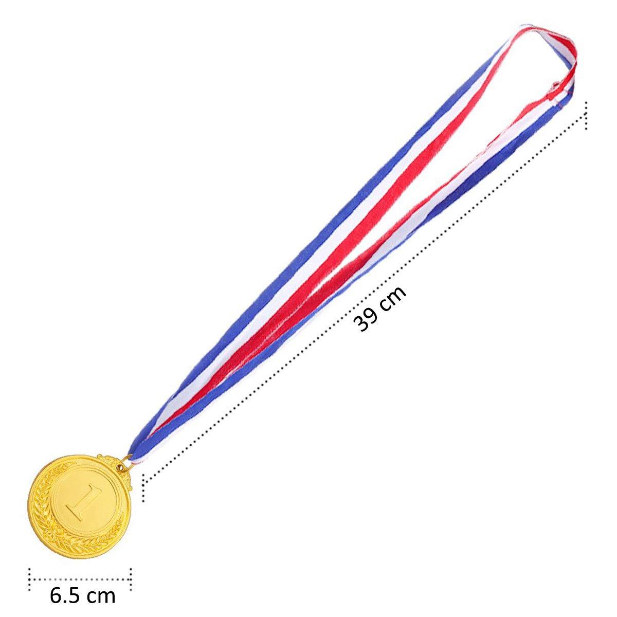 3 Pezzi medaglie per Vincitori Olimpici in Metallo ExeQianming medaglie in Bronzo con Nastro da Collo