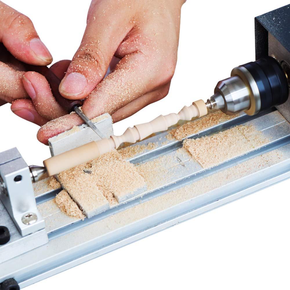 Walmeck Universal Mini Lathe Beads Polisher Machine Table Woodworking Wood DIY Tool Lathe Standard Set US Plug by Walmeck-1 (Image #8)