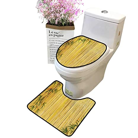 Wondrous Amazon Com Bathroom Rug Toilet Sets Light Golden Branches Inzonedesignstudio Interior Chair Design Inzonedesignstudiocom
