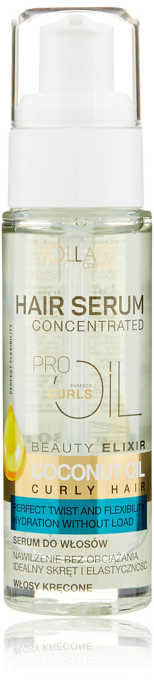 Vollare Hair Serum Concentrated 7 Pro Oils for Curly Hair with Coconut Oil 30ml