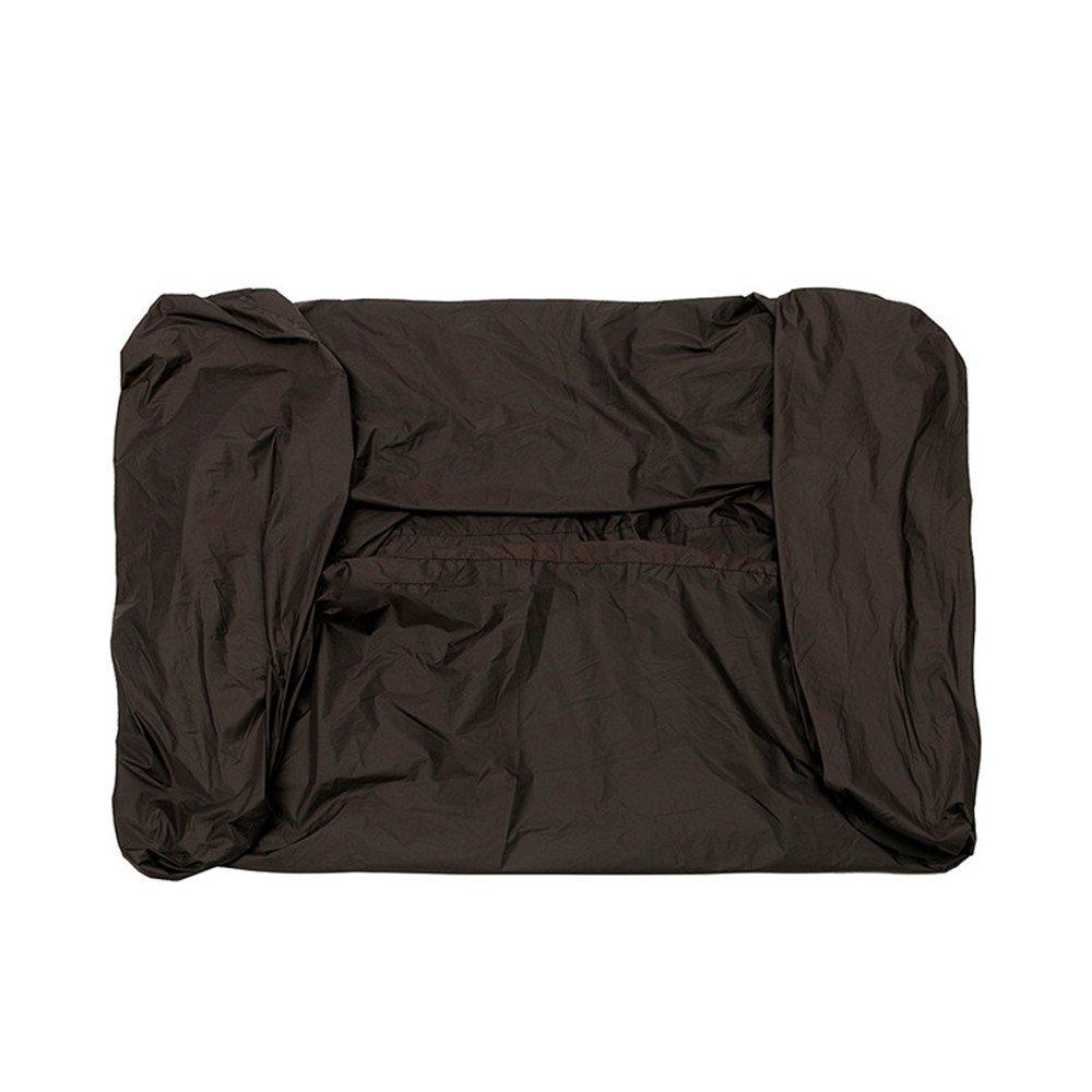 YPINGLI 81x44x47.5 Inch Black Polyester Fabric Waterproof Zero Turn Lawnmower Cover Tool Accessories
