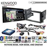 Volunteer Audio Kenwood Excelon DNX694S Double Din Radio Install Kit with GPS Navigation System Android Auto Apple CarPlay Fits 2007-2013 Silverado, Avalanche (Onstar and Bose)