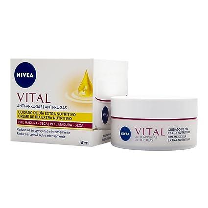 NIVEA Vital - Crema de día antiarrugas para cara y rostro, pieles maduras, 50