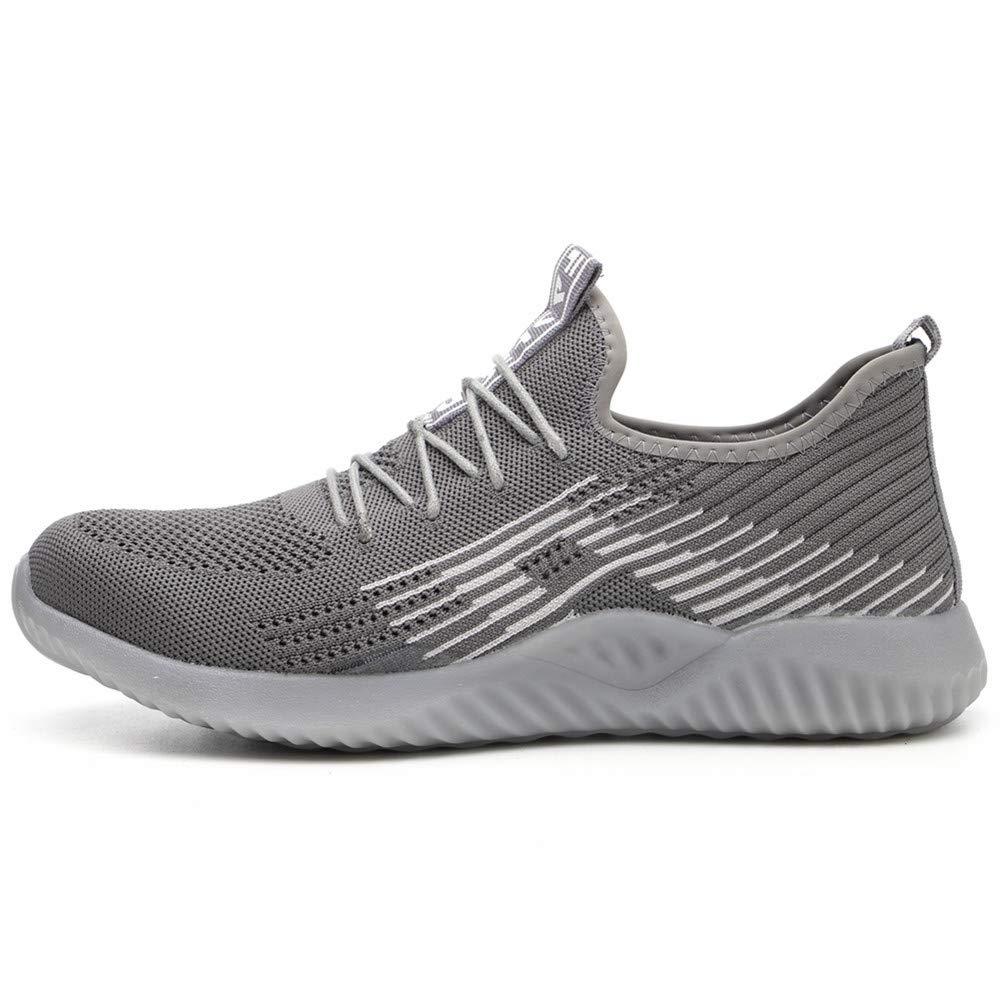 Ayqyc Arbeitsschuhe Herren Sicherheitsschuhe Damen Leicht Atmungsaktiv Schutzschuhe Stahlkappe Sneaker Unisex