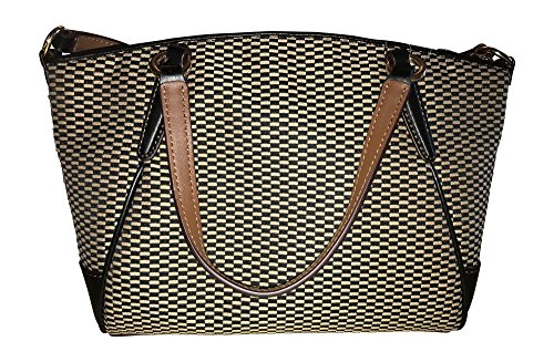 Mini Legacy Handbag Milk Satchel Black Crossbody Coach Jacquard Kelsey 74fHRwWPq