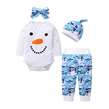 551edd254 Amazon.com  Newborn Infant Baby Boys Girls Print Tops T-shirt Pants ...