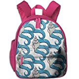 Toddler Pre School Backpack Boy&girl's Shells Octopus Tentacles Marine Book Bag