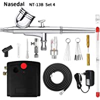Nasedal NT-13 Dual-Action Airbrush Compressor Kit Makeup Nail Paint Spray Gun Tattoo Body Car Paint Set Cleaning Tool Filter : China, Airbrush Holder