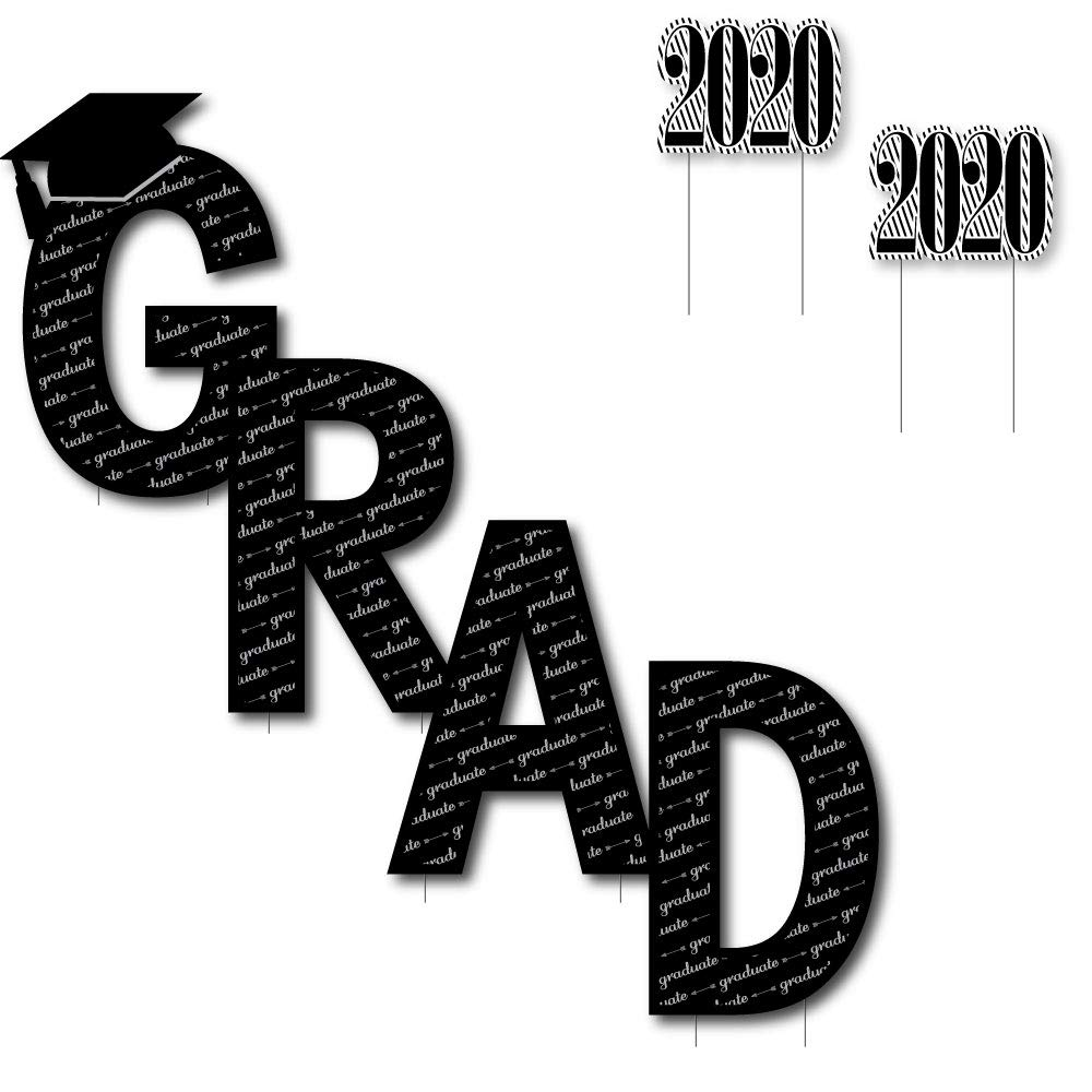 Class of 2020 Graduation Yard Sign Big Dot of Happiness Senior Strong Outdoor Lawn Sign 1 Piece